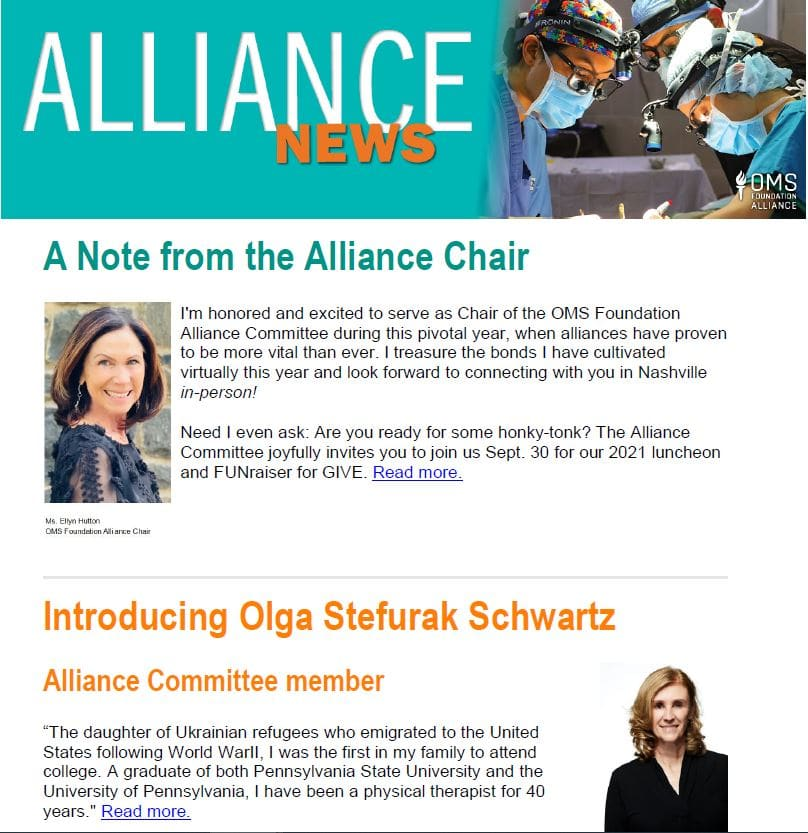 Alliance E News Front Page